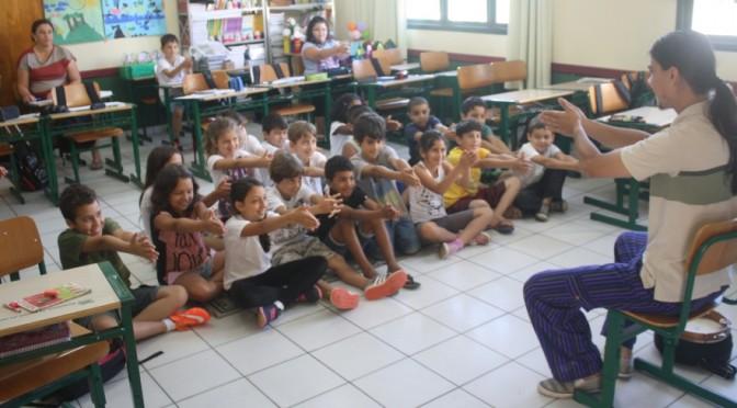 Dimi Camorlinga na Escola Básica Januária Teixeira da Rocha