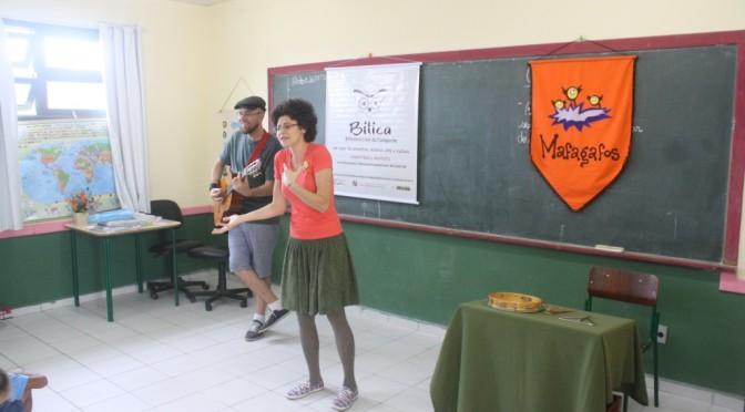 Cia mafagafos na Escola Januária Teixeira