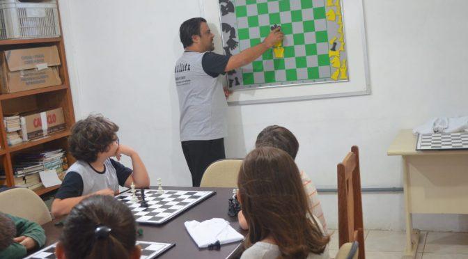 Primeiro encontro do Clube de Xadrez na Bilica!